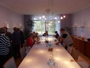 Ruokailtiin Villa Hackmannissa